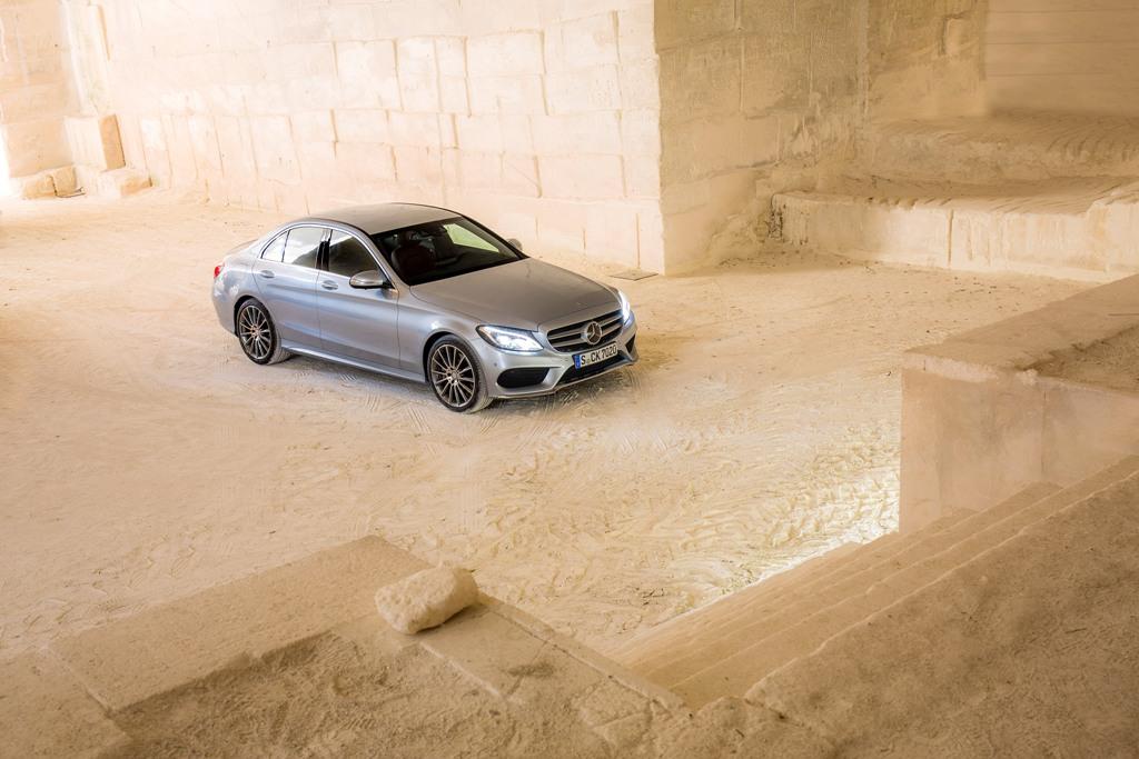 Mercedes Benz; C-Klasse Fahrvorstellung Marseille 2014; C-400_4_Matic; Diamantsilber; AMG-Line; Ext. AMG